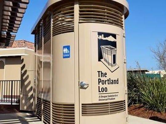 Instalaciones sanitarias para el Portland Loo.