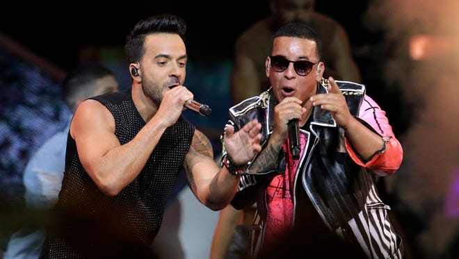 Luis Fonsi, left, and Daddy Yankee sing the hit 'Despacito,' which was not submitted to be considered for a VMA nomination.