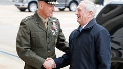Chairman of the Joint Chiefs Gen. Joseph Dunford, left,