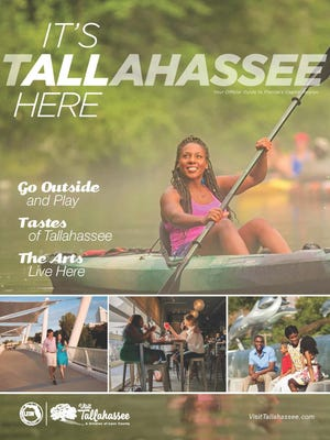 The cover of theglossy 100-page visitor guide released by Visit Tallahassee.