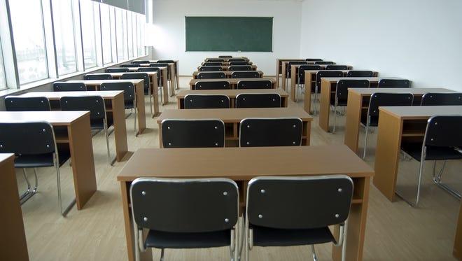 An empty classrom