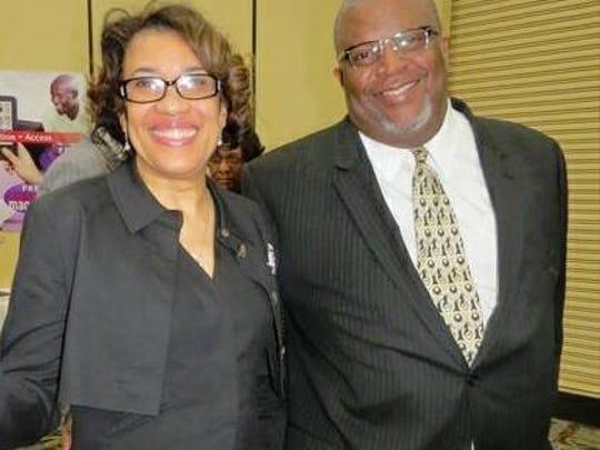 Flint Mayor Karen Weaver and her husband, Dr. Wrex