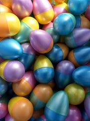 Easter eggs ready to be distributed for one of the planned egg hunts.