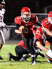Devin Morris picks up yardage during Riverheads' 49-0 victory over Altavista in last year's Region 1B semifinal.