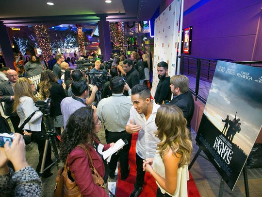 """The screening of the movie """"Spare Parts"""" based on the winning Carl Hayden robotics team at the Harkins Tempe Marketplace 16 in Tempe on Tuesday, January 6, 2014."""
