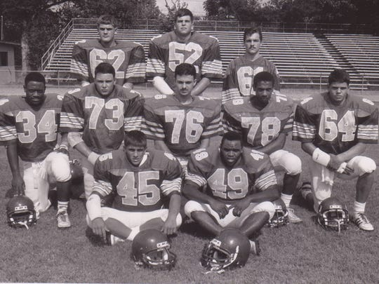 The leaders of the 1990 Rayne Wolves' football team