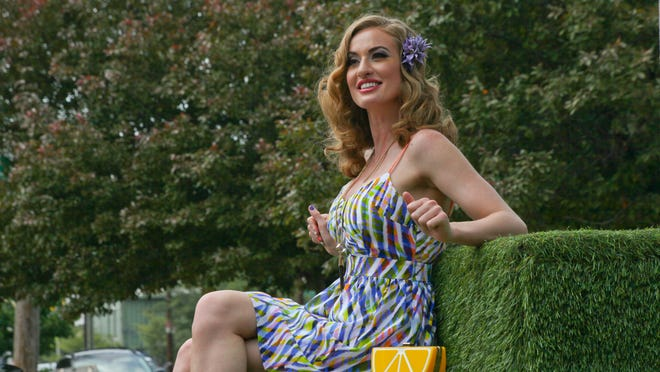 Model Jade Brownfield during a HerScene fashion shoot at Garage Bar in Louisville, KY. May 28, 2015