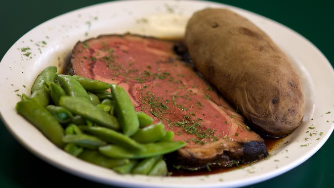 The prime rib dinner is one of the favorites at 2002 Restaurant in Barefoot Bay.