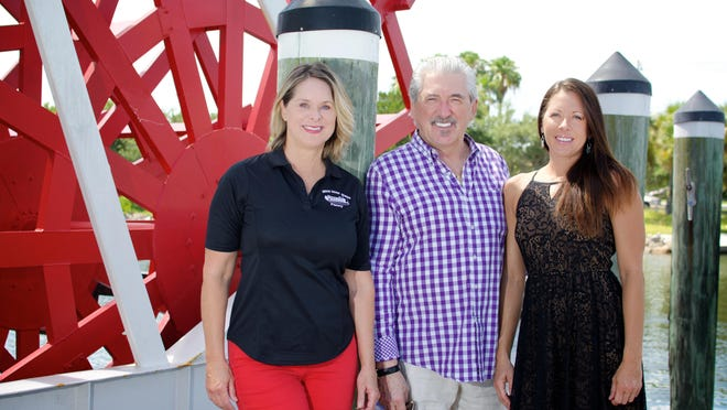 Making the Indian River Queen a success are owner Penny Flaherty and Daniel Colzani and Tanya Colzani. The Colzanis own The Tulip restaurant, which caters the boat's excursions.