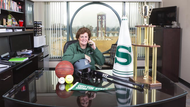 Shelton State's Cara Crosslin has been named the Alabama Community College Conference Athletic Director of the Year. Crosslin, a 1998 University of Alabama graduate and member of the Crimson Tide's 1994 Women's Final Four basketball team, oversees the Buccaneers' five sports: men's and women's basketball, baseball, softball and cheerleading.
