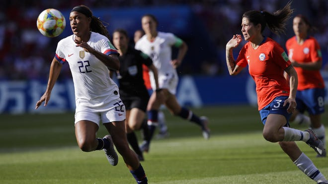 Jessica McDonald (left), here playing in a World Cup game for the U.S. last year, says she was glad the league took the time to address her concerns and those of other parents.