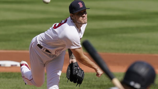 With his velocity down on his four-seam fastball, Red Sox rookie pitcher Tanner Houck relied more on his two-seam fastball to stymie the New York Yankees across six innings pitched in Boston's 10-2 win on Sunday at Fenway Park.