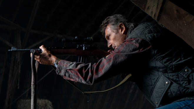 """Liam Neeson in a scene from """"The Marksman."""""""