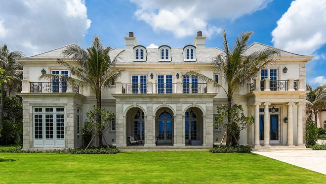 This eight-bedroom oceanfront house developed in Palm Beach by Sir Peter Wood at 530 S. Ocean Blvd. has sold for $37.25 million, the price reported in the local multiple listing service. The mansion's architecture is French Provencal in style.
