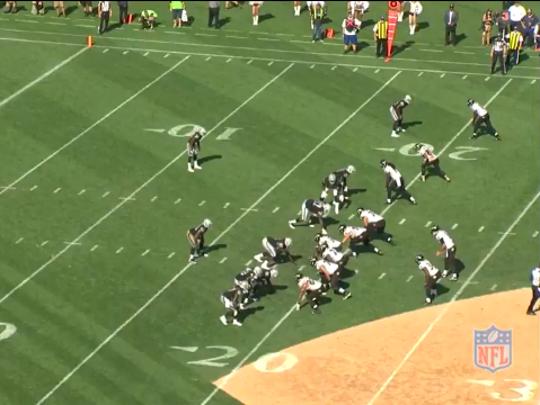 Ravens vs Raiders. Play 3.1