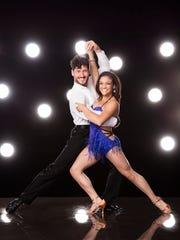 Olympic gymnast Laurie Hernandez and dancer Val Chmerkovskiy