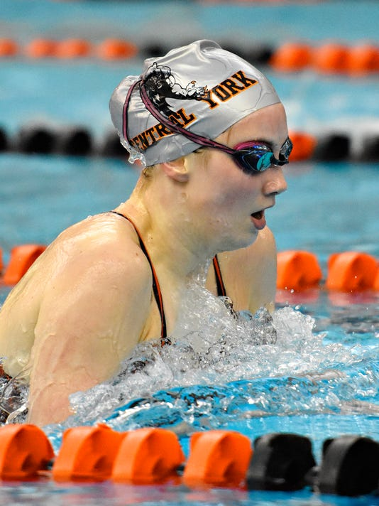 Central York vs Red Lion in swimming