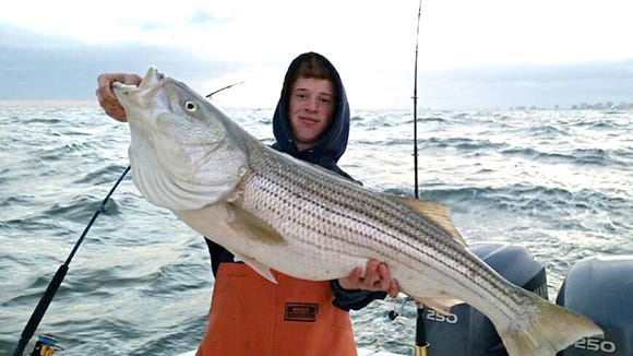 Team Riptide's Josh Biondi was out fishing on the Titan Up and nailed a nice striper. Boaters are having a nice bite pulling Mojo Rigs, Bunker Spoons and Stretch 25/30's in local waters.