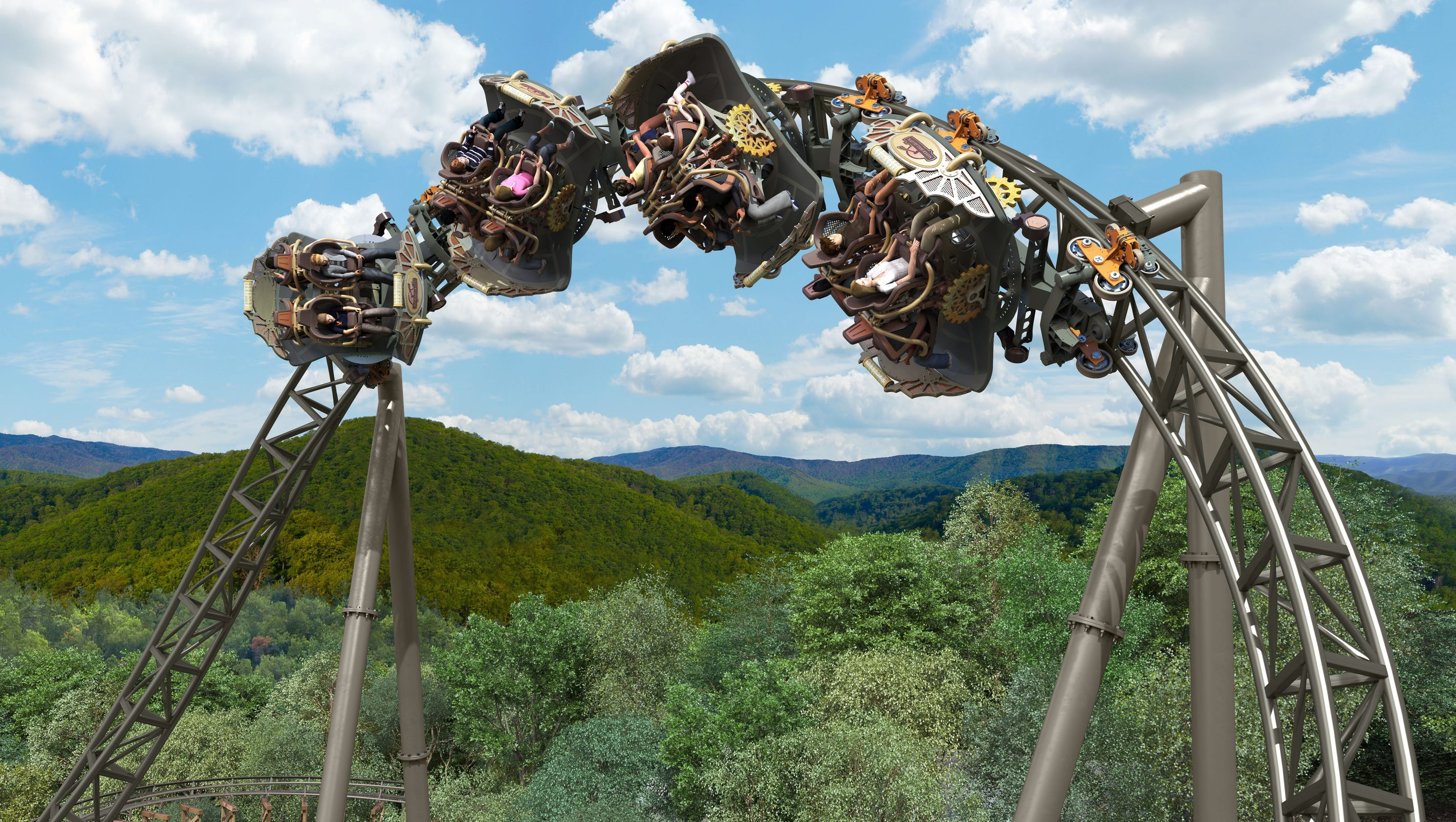 New Silver Dollar City Roller Coaster Time Traveler
