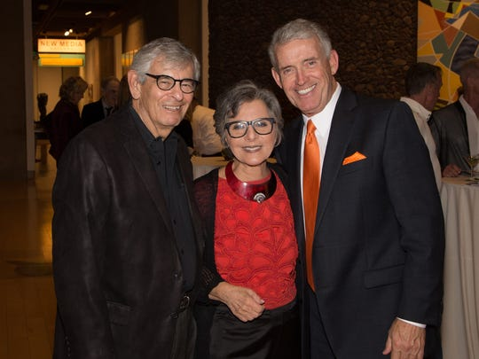 Tom Truhe (right) appears at a local function with former Sen. Barbara Boxer and her husband, Stewart Boxer