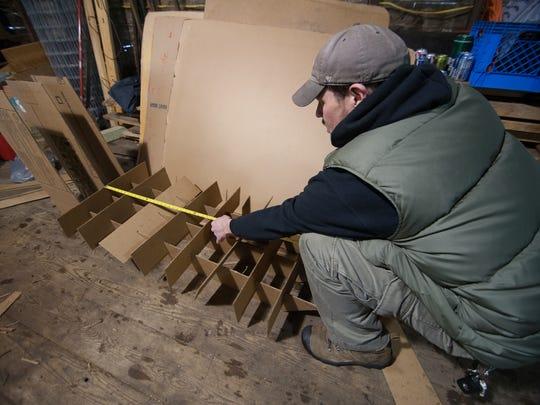 Michael Kulik measures out the Moustache Sled base