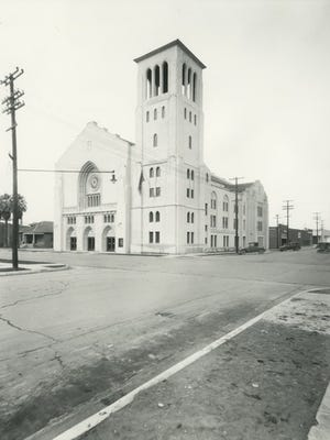First Baptist Church, located at Third Ave and Monroe, was built in 1929.