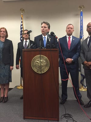 Acting U.S. Attorney Corey Amundson announces the results of the investigation into the fatal police shooting of Alton Sterling last summer.