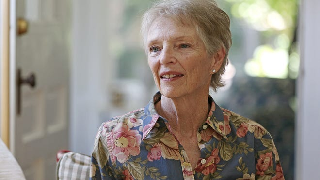 Jean Deeds poses for a portrait at her home in Broad Ripple, Indianapolis, Wednesday, June 29, 2016. Deeds, now 73, quit her job when she was 51 to take a six month hike on the Appalachian Trail. Since that initial leap of faith, Deeds has led groups of women on hiking trips around the world.