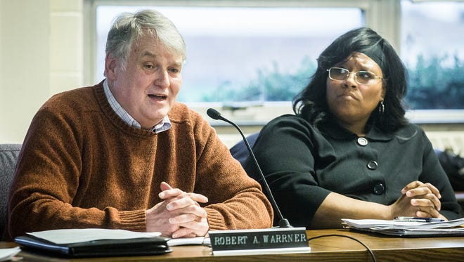 School board member Robert Warrner attends a meeting Tuesday, March 28, 2017.