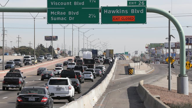 Hawkins exit is now closed as a traffic flow project is underway in the area.