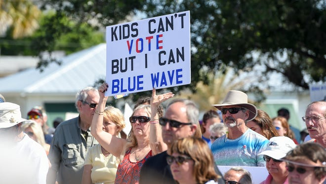 Students, parents, and Martin County residents gathered Saturday, Mar. 24, 2018,  for the March For Our Lives rally at the Memorial Park bandshell in downtown Stuart.