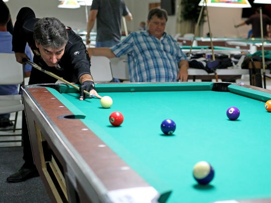 """Johnny Archer competes in the 10 Ball """"Open"""" Thursday,"""