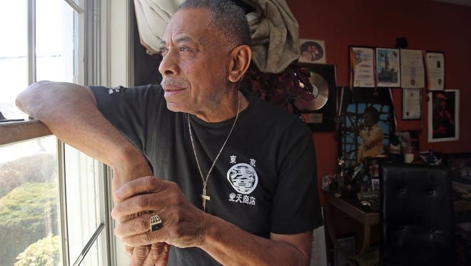 Joe Bataan, a Latin soul singer who was named after the Battle of Bataan and the Bataan Death March that followed will be performing at a commemoration of the 75th anniversary of the battle in Rockland on April 8th. Bataan was photographed in his home in Mount Vernon March 29, 2017.
