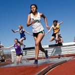 Central Pennsylvania athletes compete in the steeple chase at the Shippensburg University High School Track and Field Invitational on Saturday, April 23, 2016.