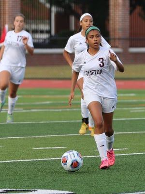 Amy Aguilar-Almazo (3) had an assist for Clifton against Passaic Tech.