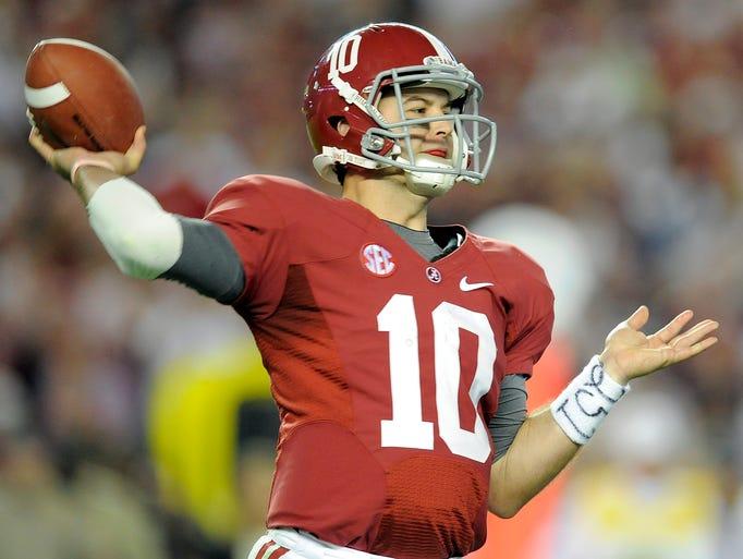 USA TODAY Sports college football writer Paul Myerberg selects his Preseason All-Americans. QB: AJ McCarron, Alabama