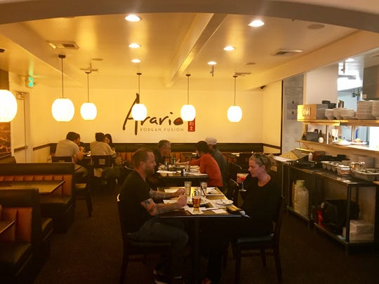 The main dining room at the new Arario Korean Fusion in Midtown Reno.