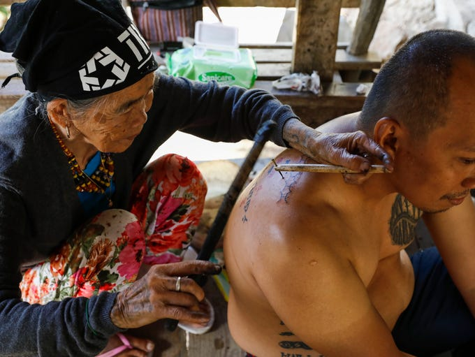 Filipino Whang-od known as the oldest living 'mambabatok'