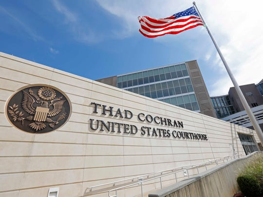 The Thad Cochran United States Courthouse in downtown Jackson, Miss.