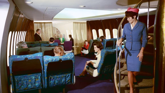 Boeing touted this lounge concept in early mock-ups