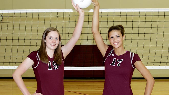 Megan Ballenger and Jaali Winters played two seasons together at Ankeny before the community split into two high schools in 2013. Both players have been named to the American Volleyball Coaches Association Under Armour All-American Teams.