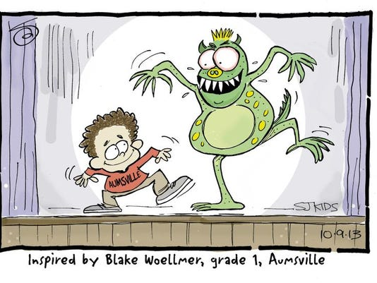 I want to be a dancer so I can dance the Monster Mash. Blake Woellmer, Grade 1, Aumsville