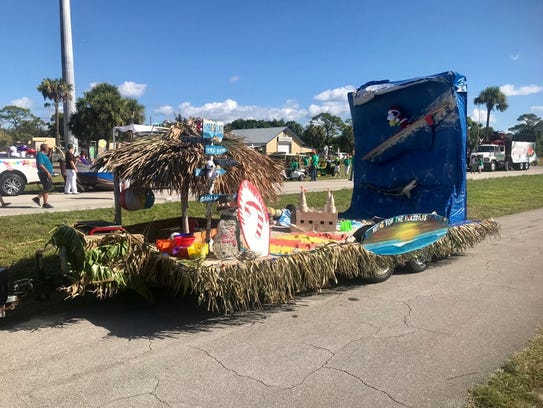 The Martin County Tax Collector's float was designed