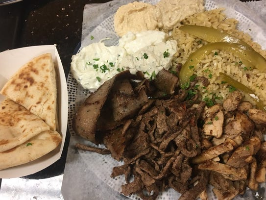 Keese's Simply Delicious's mix shawarma dinner was