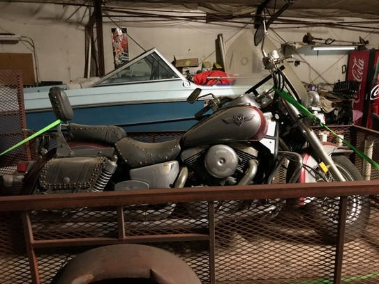 A 1998 Kawasaki is available for bid at the sheriff's
