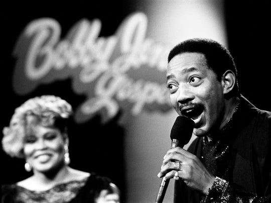 Bobby Jones, right, performs during a taping of  the