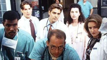 "Twenty years ago, NBC's new fast-paced ""ER"" hospital drama rushed to the top of the Nielsen drama rankings. Enquirer TV/media writer John Kiesewetter looks back on the staff at Chicago's fictional County Hospital that was introduced to viewers on Sept. 19, 1994 (clockwise from left): Dr. Peter Benton (Eriq LaSalle); medical student John Carter (Noah Wyle); Dr. Doug Ross (George Clooney); nurse Carol Hathaway (Julianna Margulies); Dr. Susan Lewis (Sherry Stringfield); and Dr. Mark Greene (Anthony Edwards)."
