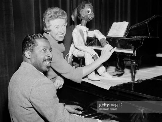 Erroll Garner performs Dec. 21, 1957, in Paris.