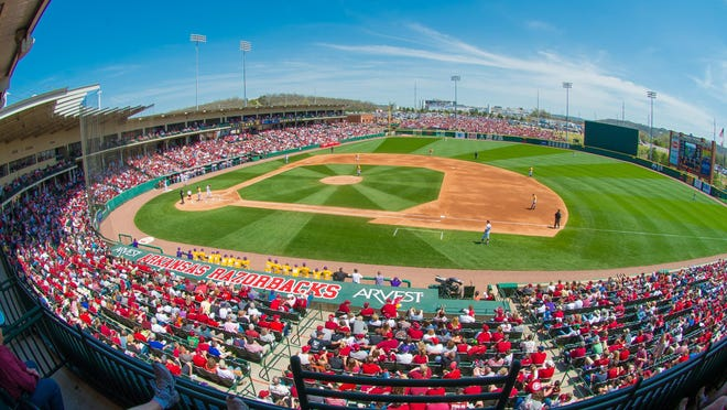 Empty seats will be tough to find this weekend at Baum Stadium in Fayetteville, Arkansas.
