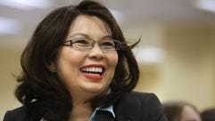 Tammy Duckworth appears in Springfield, Ill., on June